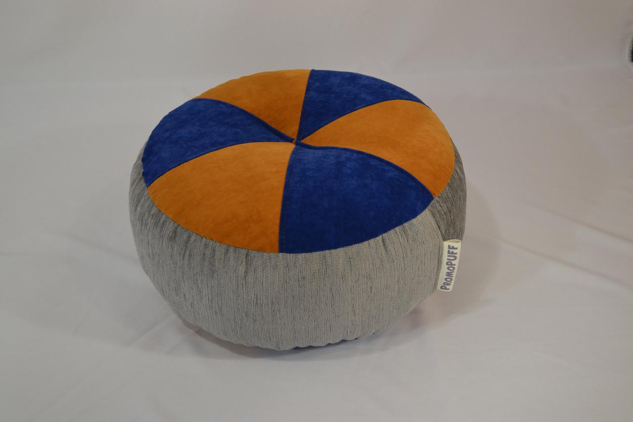 Пуфик Шайба Флок и мебельная ткань