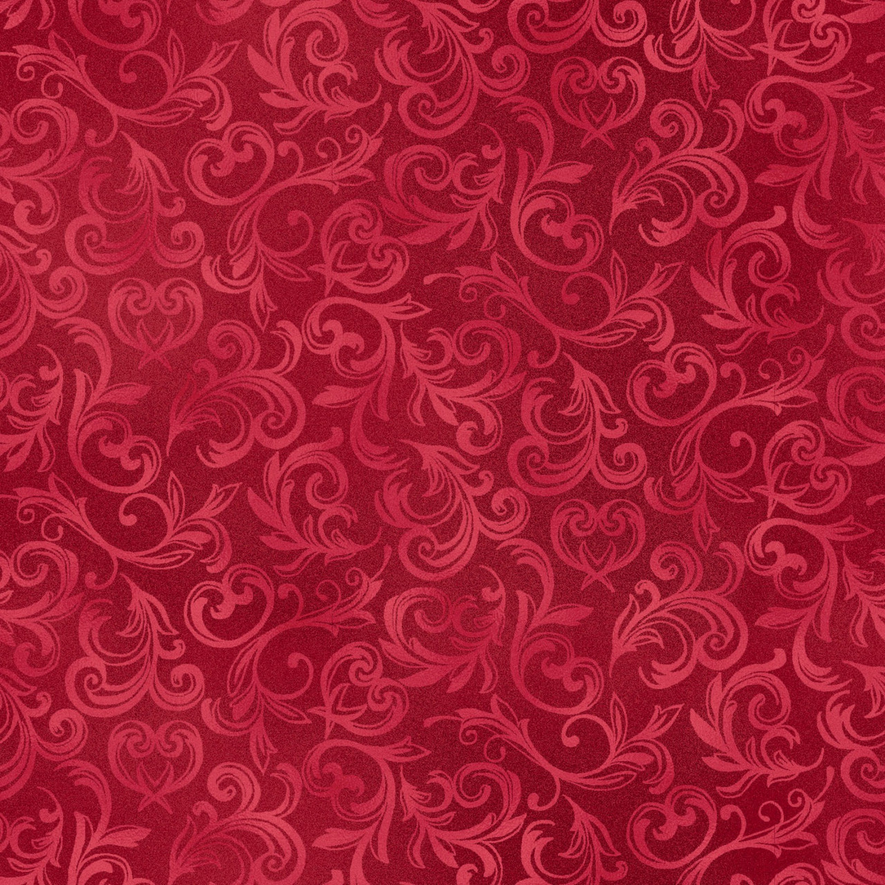 52009 Пышный узор. Ткань с красная. Ткани для декора и рукоделия.
