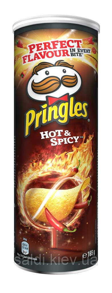 Чипсы Pringles Hot & Spicy Острые 165 грн