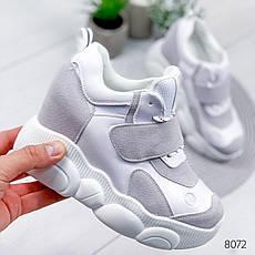 """Кросівки жіночі """"Lowos"""" сірого кольору з еко замші. Кеди жіночі. Мокасини жіночі. Взуття жіноче, фото 2"""