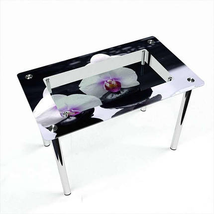 Стіл кухонний скляний Прямокутний з полицею Relax 91х61 *Еко (БЦ-стіл ТМ), фото 2