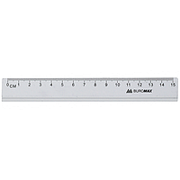 Линейка алюминиевая Buromax 15 см серебристая