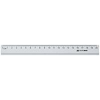 Линейка алюминиевая Buromax 20 см серебристая