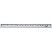 Линейка алюминиевая Buromax 30 см серебристая