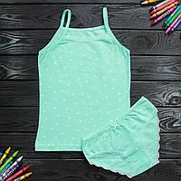 Комплект дитячий Donella з зірками бірюзовий для дівчинки на 8/9 років   1 шт.