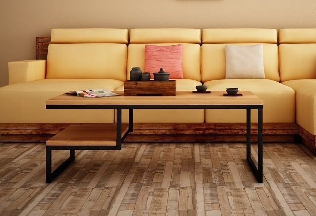 Кофейный Журнальный столик в стиле LOFT (Table - 448)