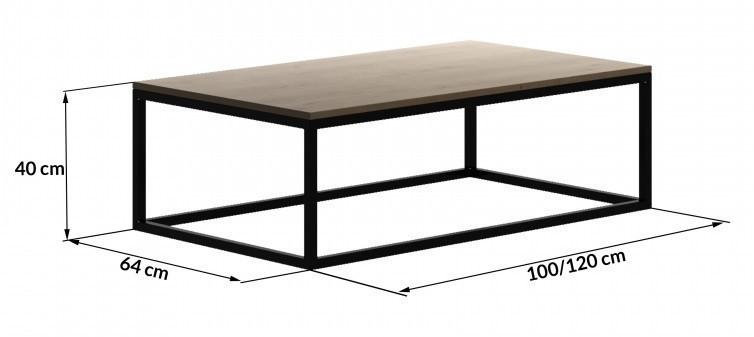 Кофейный Журнальный столик в стиле LOFT (Table - 508)