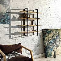 Навесная - Настенная Полка в стиле LOFT (Wall Shelf - 14)