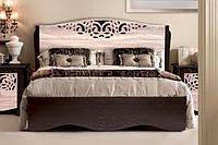 Кровать Гефест 1600х2000 венге т. дуб сонома (Мастер Форм)