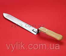 Нож двусторонний 28 см, деревянная ручка