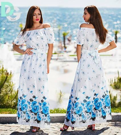 Платье с цветочным принтом  в пол , фото 2