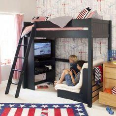 Двухьярусная кровать в стиле LOFT (Bed - 024)