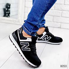 """Кроссовки мужские в стиле """"New Balance"""" черного цвета из эко замши, мокасины мужские, кеды мужские, обувь"""