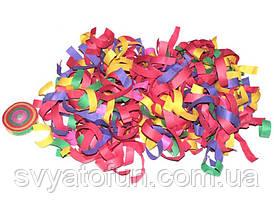 Конфетти Серпантин бумажный, разноцветный, 1 шт