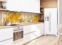 Кухонный фартук Amour (наклейки пленка для стеновых панелей, Франция Эйфелева башня пирожное Лувр)