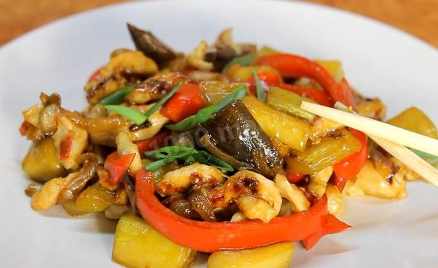 Курица с овощами - рецепт