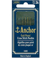 Иглы вышивальные Anchor № 26 Gold Plated Tapestry Needles