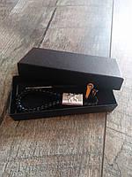 Брелок для автомобильных ключей Peugeot кожаный с логотипом пежо + подарунква коробка