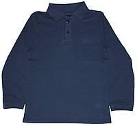 Темно-синяя рубашка поло для мальчика, рост 140 см, Фламинго