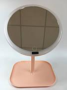 Косметическое зеркало с подсветкой Коралловый
