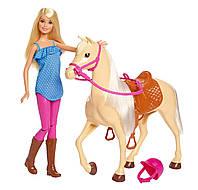 Игровой набор Барби с Лошадкой Barbie Doll & Horse, Blonde (FXH13)