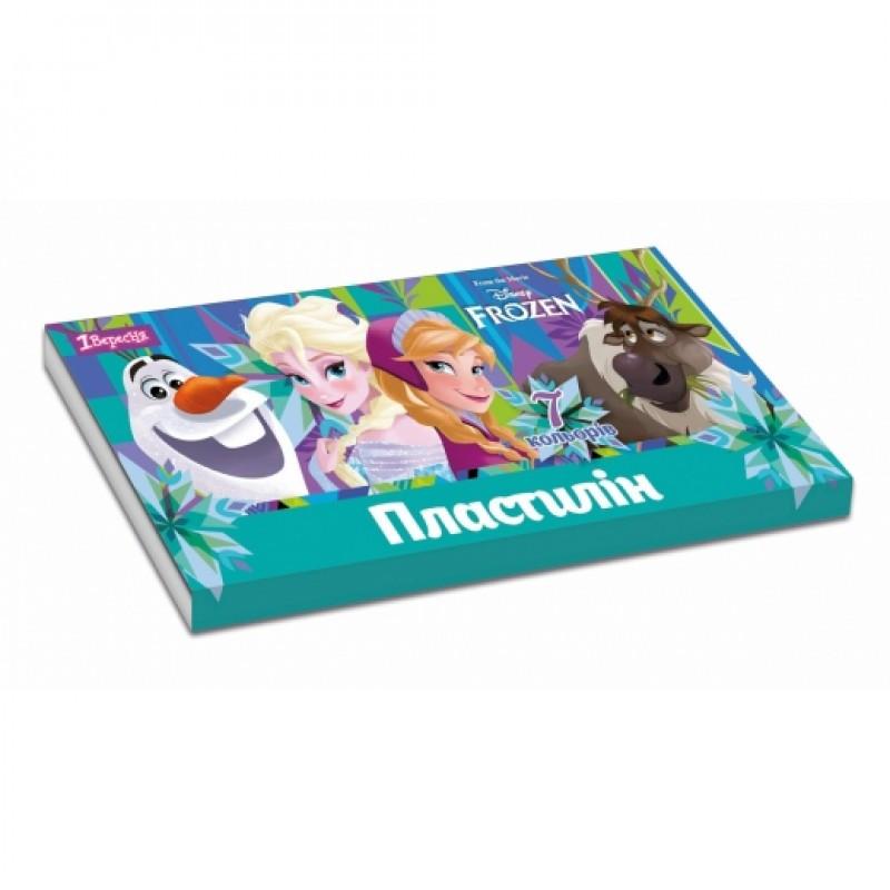 """Пластилін 1Вересня 7 кольорів """"Frozen"""" 540482"""