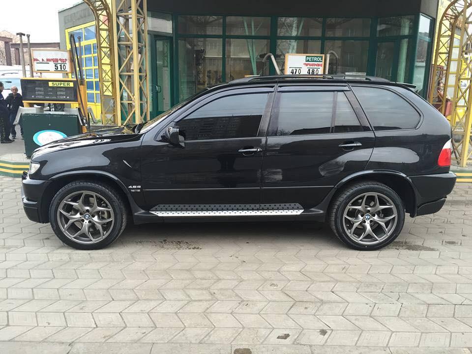 Дефлекторы окон (ветровики) BMW X5 (E53) 2000-2006