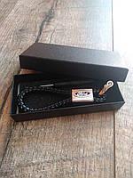 Брелок для автомобильных ключей Ford  кожаный с логотипом форд + подарункова коробка