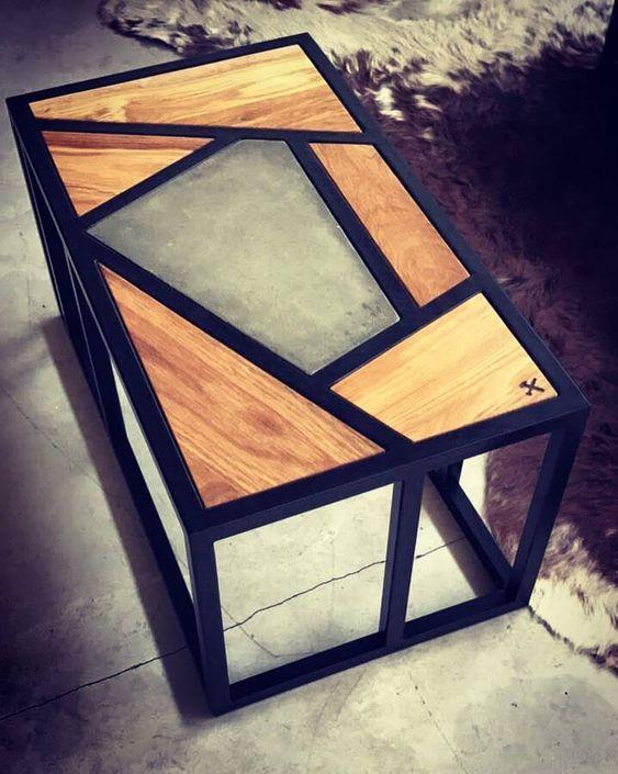 Кофейный Журнальный столик в стиле LOFT (Table - 456)
