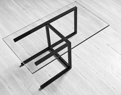 Кофейный Журнальный столик в стиле LOFT (Table - 463)