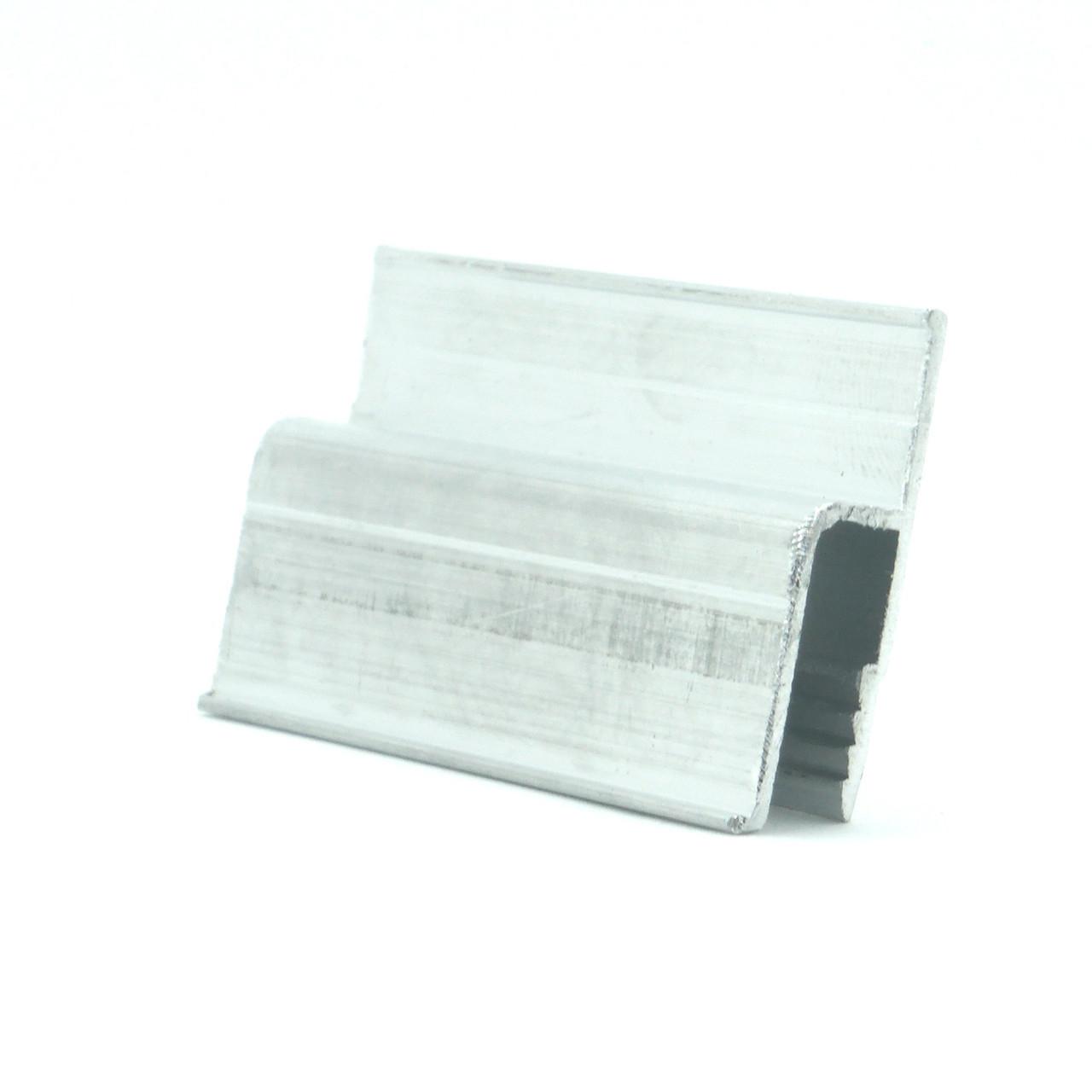 Профиль алюминиевый - h-образный, облегчённый. Длина профиля 2,5 м.