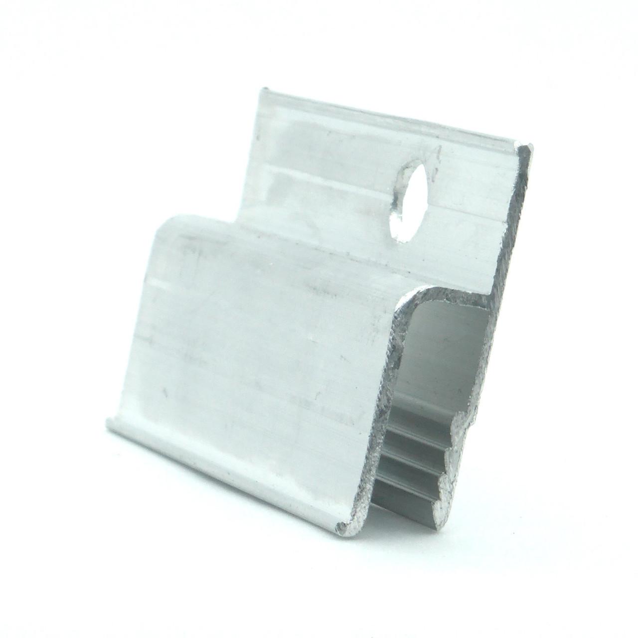 Профіль алюмінієвий для натяжних стель - h-подібний, перфорований, 160 грам. Довжина профілю 2,5 м.