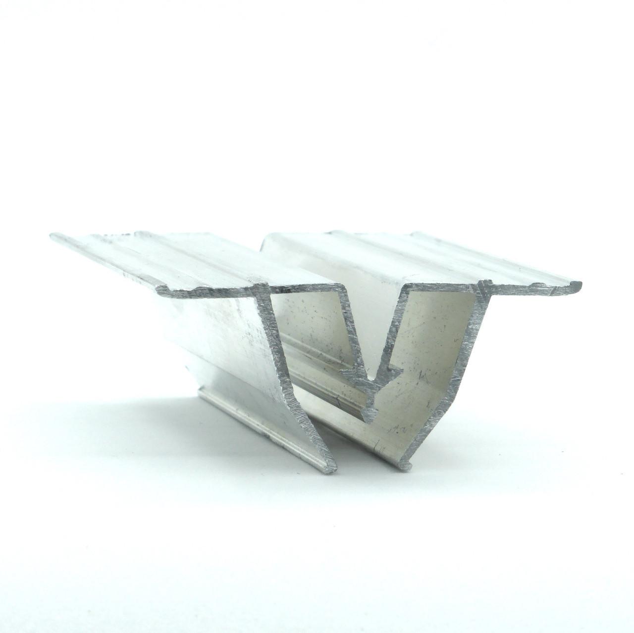 Профиль алюминиевый для натяжных потолков - W-образный, сепарационный. Длина профиля 2,5 м.