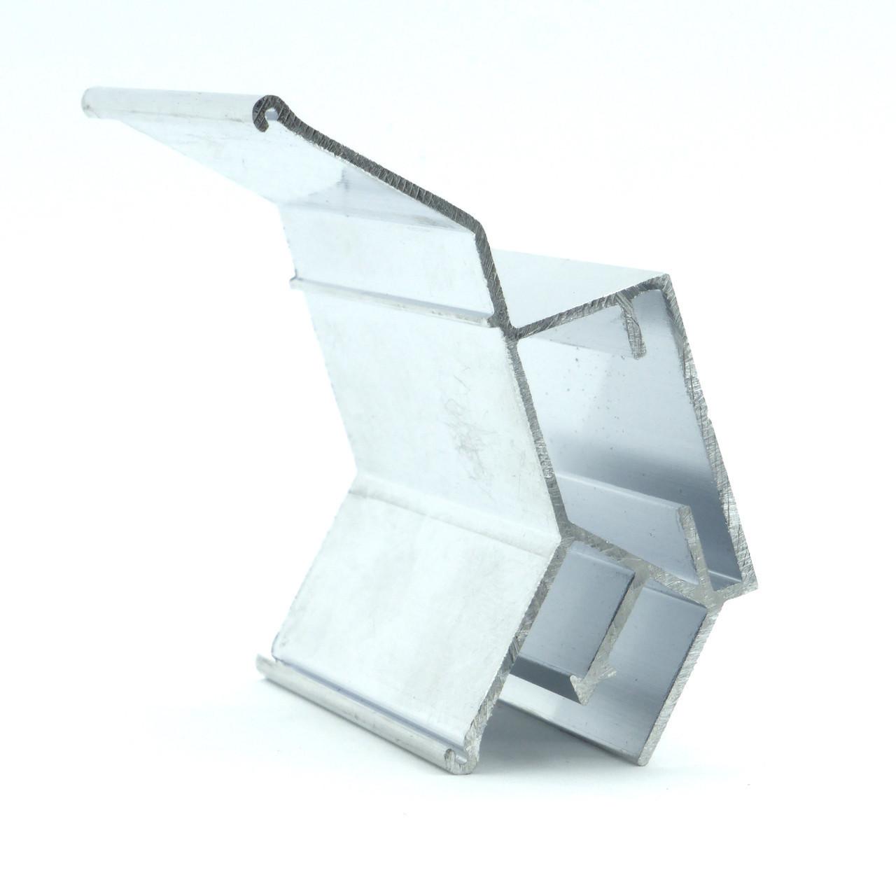 Профиль алюминиевый для натяжных потолков - двухуровневый №2, с изменённым углом. Длина профиля 2,5 м.