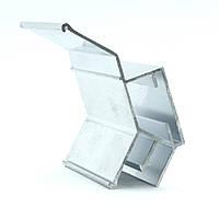 Профиль алюминиевый для натяжных потолков - двухуровневый №2, с изменённым углом. Длина профиля 2,5 м., фото 1