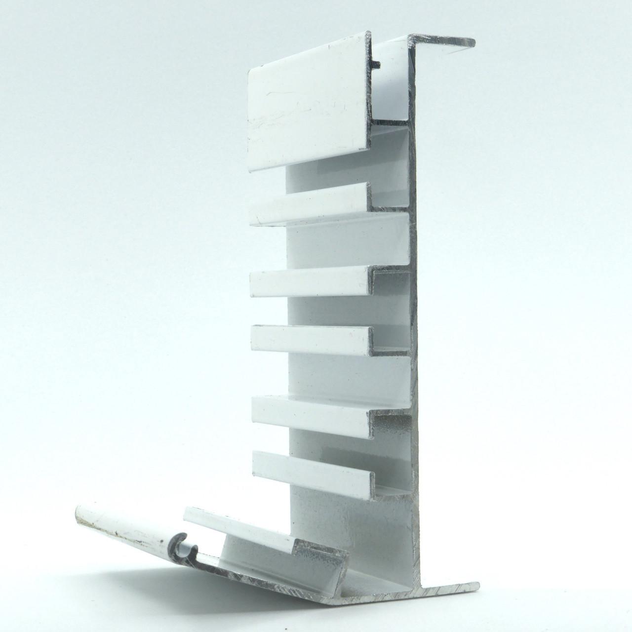 Профиль алюминиевый для натяжных потолков - Гардина трехполосный. Длина профиля 2,5 м.