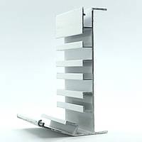 Профиль алюминиевый для натяжных потолков - Гардина трехполосный. Длина профиля 2,5 м., фото 1