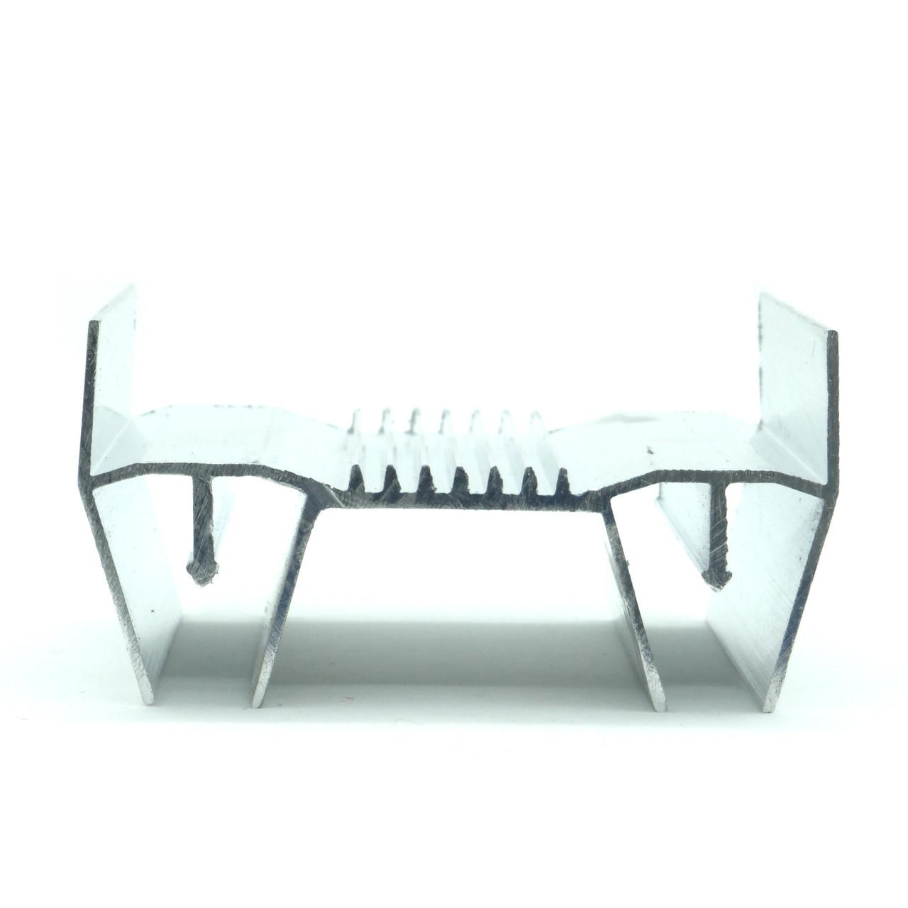 Профіль алюмінієвий для натяжних стель - ширяюча лінія. Довжина профілю 2,5 м.