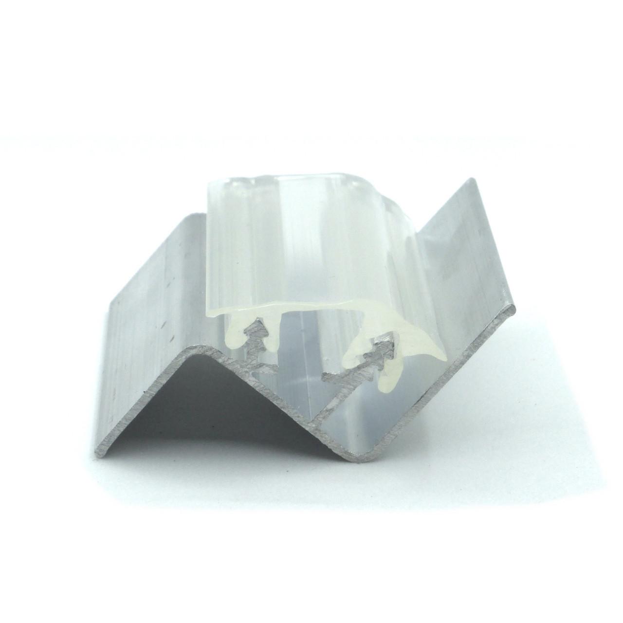 Профиль алюминиевый для натяжных потолков - парящий, со вставкой №1. Длина профиля 2 м.