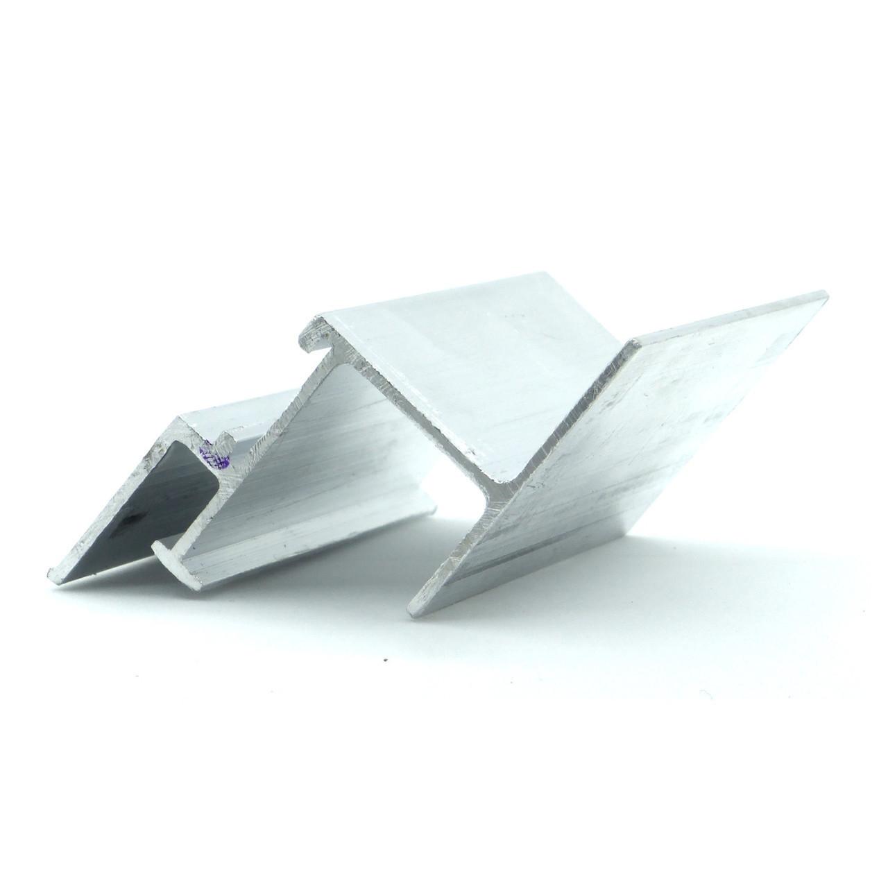 Профиль алюминиевый для натяжных потолков - парящий, прямой, без вставки №2. Длина профиля 2,5 м.