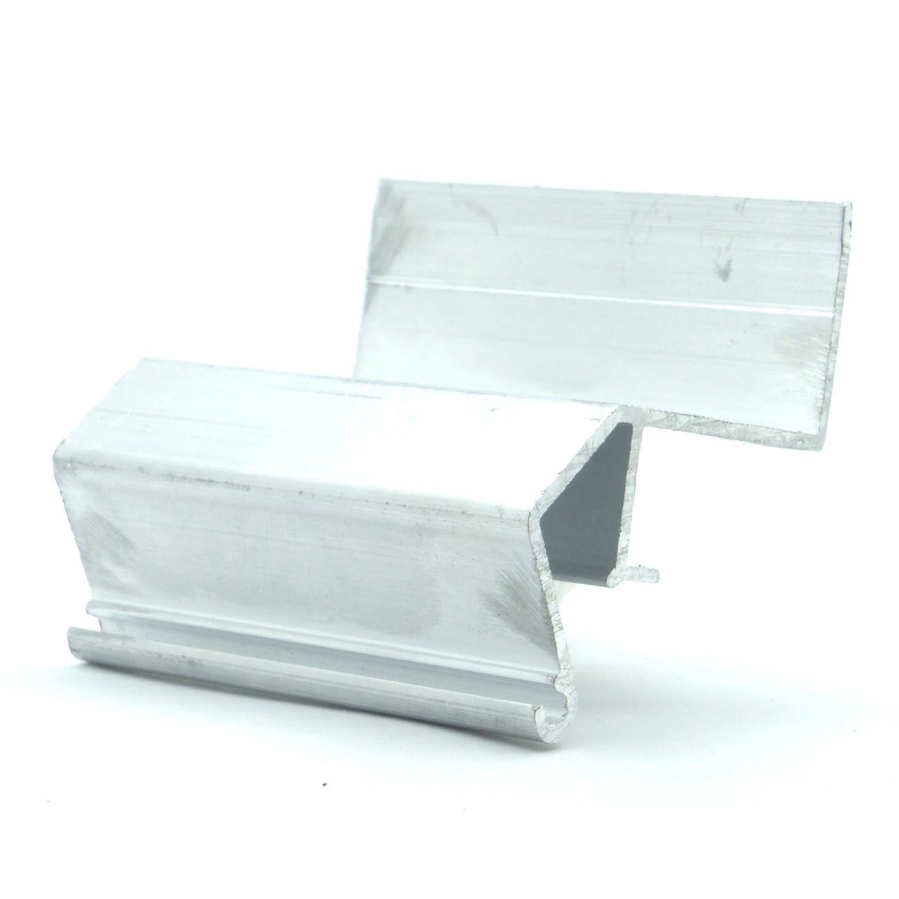 Профіль алюмінієвий для натяжних стель - ширяючий, посилений, без вставки, не фарбований №3. Довжина профілю 2,5 м.