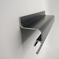 Профиль алюминиевый - парящий, усиленный, черный, без вставки №4. Длина профиля 2,5 м., фото 1