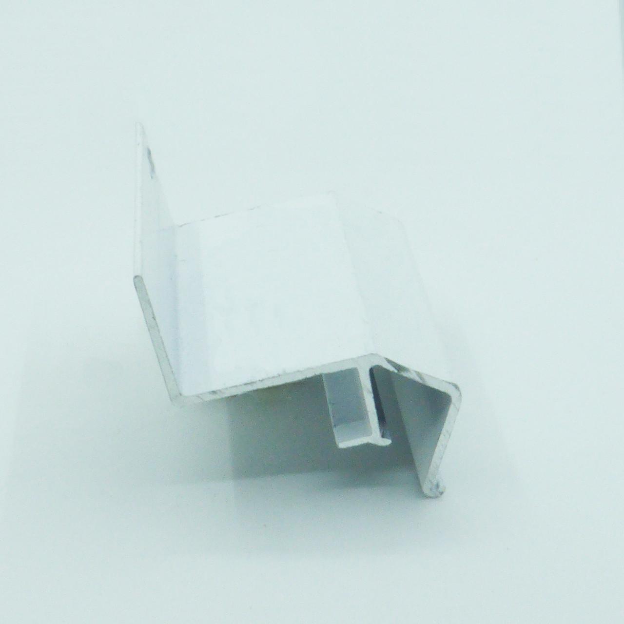 Профіль алюмінієвий для натяжних стель - ширяючий, посилений, фарбований білий, без вставки №3. Довжина профілю 2,5 м.