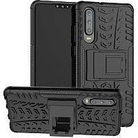 Ударопрочный чехол с функцией подставки Shield для Huawei P30 черный