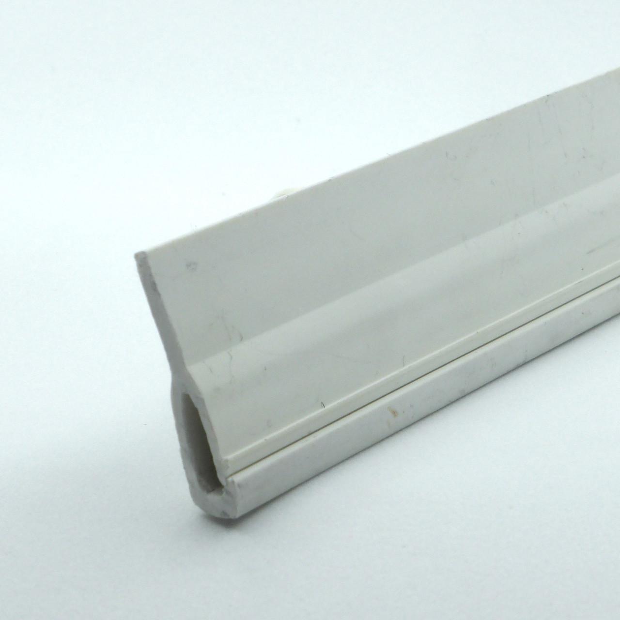 Профіль пластиковий для натяжних стель - безгарпунна система (стельовий). Довжина профілю 2 м.