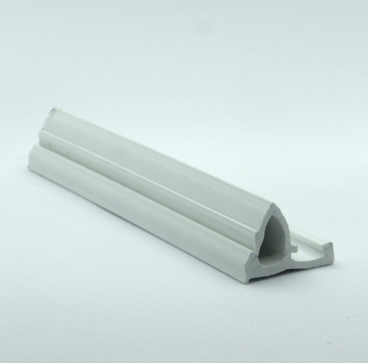 Профиль пластиковый для натяжных потолков - безгарпунная система (стеновой). Длина профиля 2 м.