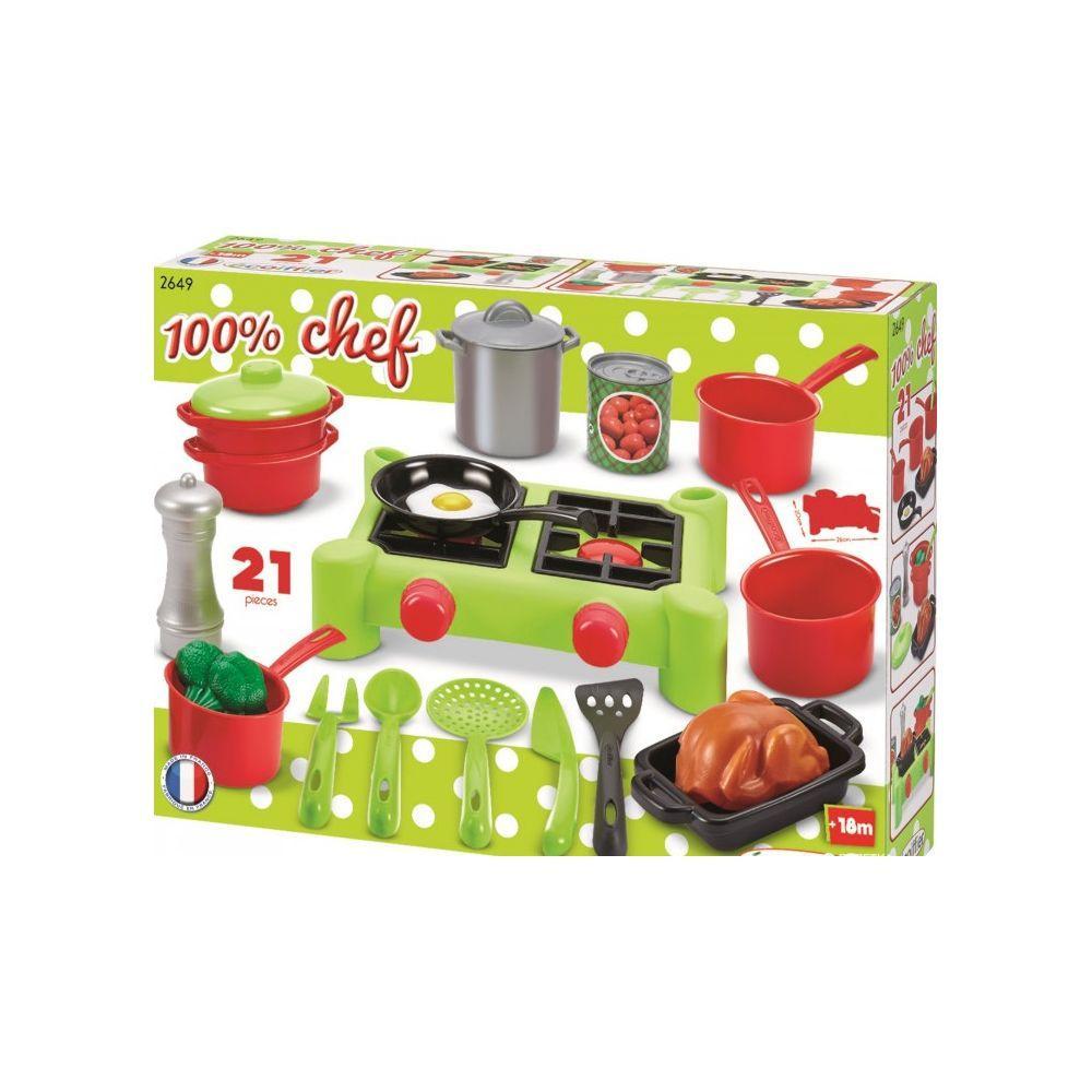 Игровой набор плита и посуда Ecoiffier 2649