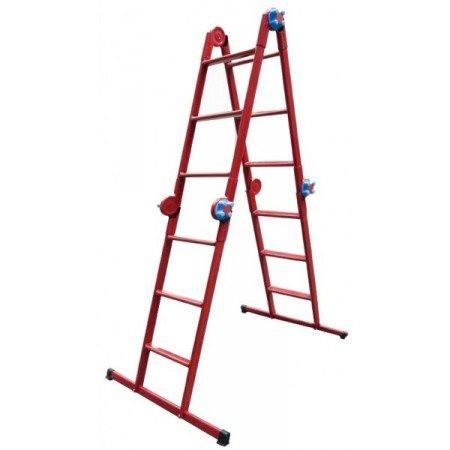 """Лестница шарнирная """"Метал"""" 4х3, для монтажа натяжных потолков"""