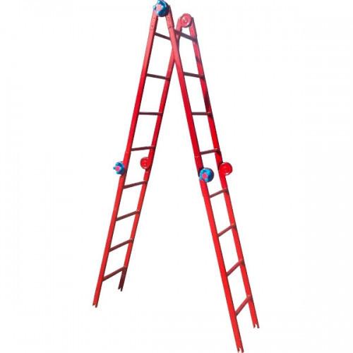 """Лестница шарнирная """"Метал"""" 4х4, для монтажа натяжных потолков"""