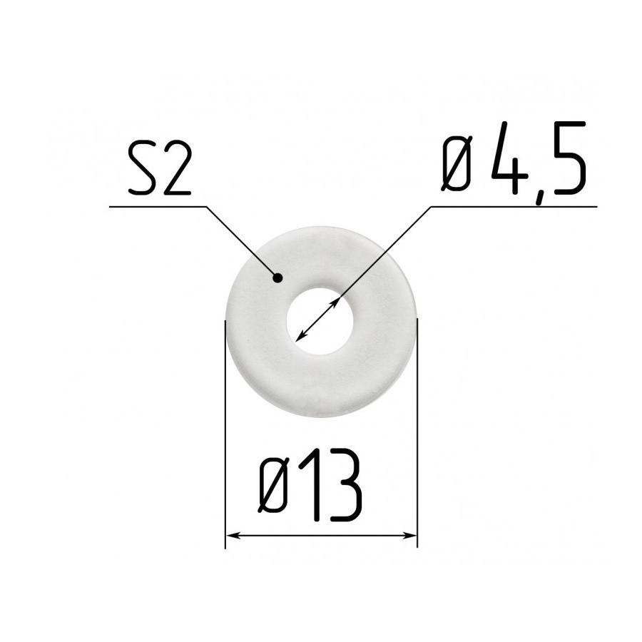 Протекторна термокільце для натяжних стель - діаметр 4,5 мм (зовнішній 13,5 мм)
